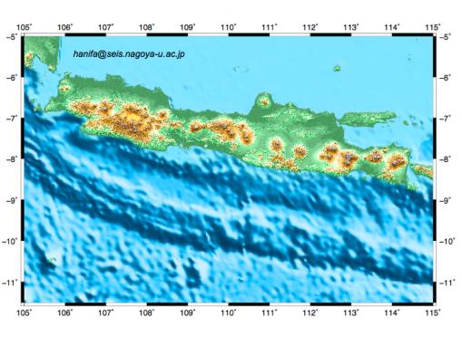 Sebaran gunung di pulau Java