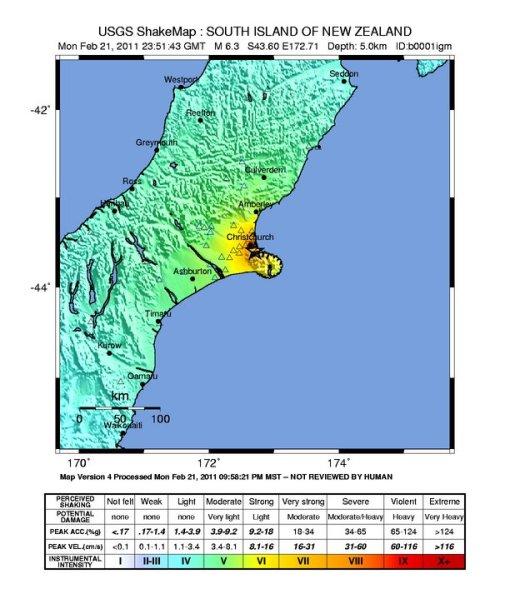Shake Map (USGS)