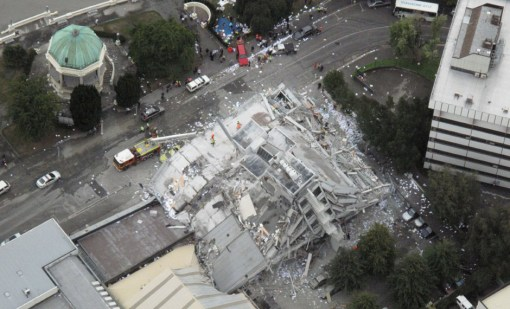 A destroyed building in Christchurch. Photo by Don Scott/The Press. http://www.brisbanetimes.com.au/christchurch-earthquake/index.html