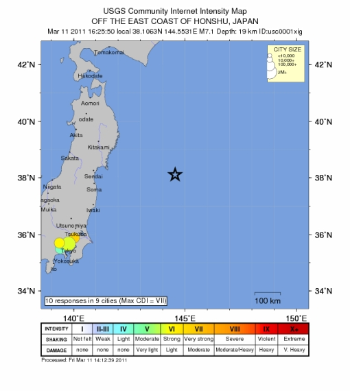 Gempa3, Mw 7.1, Intensity map USGS