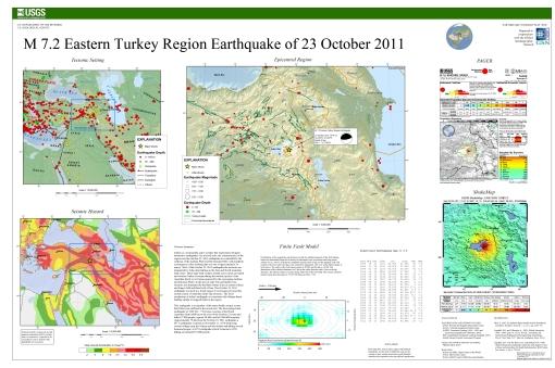 Summary Poster USGS, M7.2 Turkey Earthquake 2011